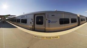Long Beach LIRR pociąg Zdjęcie Stock