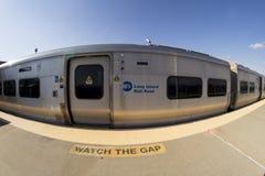 Long Beach LIRR Train Stock Photography