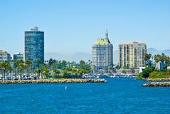 Long Beach, Los Angeles, la Californie images libres de droits