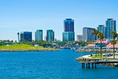 Long Beach, Los Angeles, la Californie image libre de droits