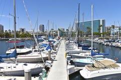 Long Beach marina Kalifornien. Arkivfoton