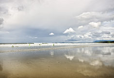 Long Beach nahe Tofino Stockbilder