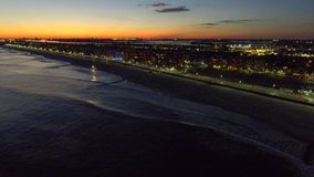 Long Beach New York at night