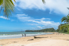 Long beach at Niyang beach Royalty Free Stock Images