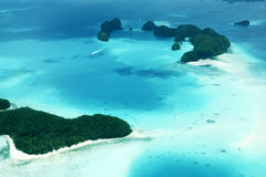 Long beach in Palau Royalty Free Stock Images