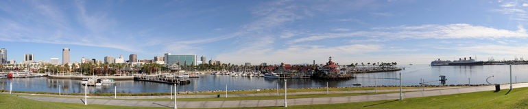 Long Beach panorama Royalty Free Stock Image