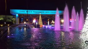 Long Beach. Performing Arts center fountain Stock Image