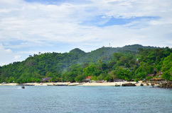 Long Beach in Phi Phi Don-Insel Stockfotos