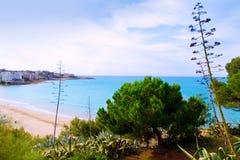 Long Beach Platja larga i Salou Tarragona Royaltyfri Foto