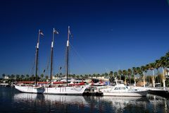 Long Beach Rainbow Harbor Stock Photography