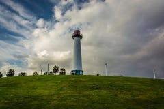 Long Beach schronienia latarnia morska Zdjęcia Stock