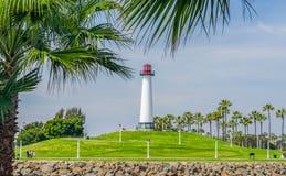 Long Beach schronienia latarnia morska Fotografia Stock