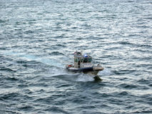 Long Beach schronienia Milicyjna łódź Zdjęcie Royalty Free
