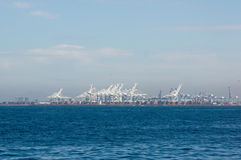 Long Beach Shipping Port. Shipping port viewed from offshore Royalty Free Stock Photos