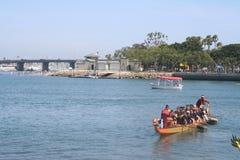 Long Beach smoka łodzi festiwal Fotografia Royalty Free