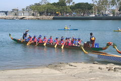 Long Beach smoka łodzi festiwal Obrazy Royalty Free