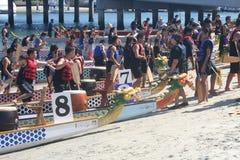 Long Beach smoka łodzi festiwal Zdjęcie Royalty Free