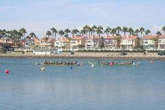 Long Beach smoka łodzi festiwal Obraz Royalty Free