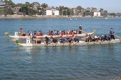 Long Beach smoka łodzi festiwal Zdjęcia Royalty Free