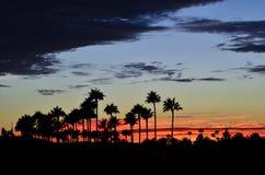 Long Beach solnedgång Arkivbild