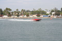 Long Beach Speed Boat Race Stock Photo
