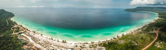 Long Beach su Koh Rong, Cambogia fotografia stock libera da diritti