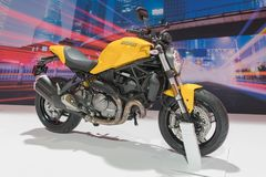 Ducati Monster on display royalty free stock photos