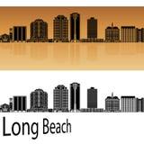 Long Beach V2 horisont i apelsin vektor illustrationer
