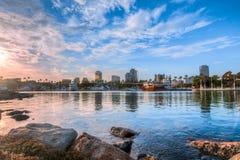 Long Beach van de binnenstad in Californië Stock Afbeelding