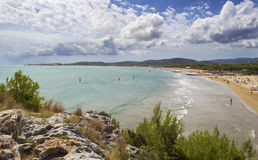 The long beach of Vieste - Gargano - Apulia Stock Images