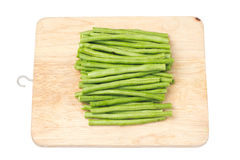 Long bean on the block Stock Photo