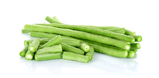 Long bean isolated on the white background.  royalty free stock photography