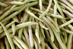 Long bean. In the market stock images
