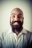 Long beard and mustache man with white shirt Stock Photography