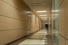 Long beige corridor Royalty Free Stock Images
