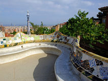 The long bench in Park Guell Stock Photography