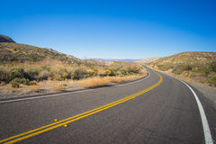 Long Bend In Wilderness Road Royalty Free Stock Images