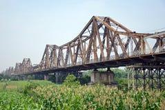 Long Bien Bridge Royalty Free Stock Image