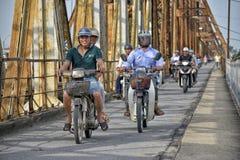 Long Bien bridge in Hanoi, Vietnam Stock Photos