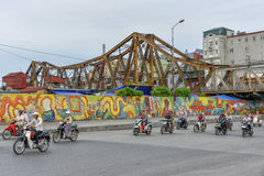 Long Bien bridge in Hanoi, Vietnam Royalty Free Stock Photo