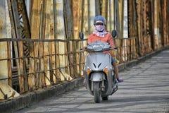 Long Bien bridge in Hanoi, Vietnam Royalty Free Stock Images