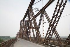 The Long Bien railway bridge Stock Image