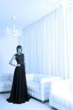 Long black dress Royalty Free Stock Images