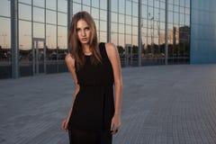 Long black dress Royalty Free Stock Photos