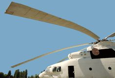 Long blades military cargo helicopter Royalty Free Stock Photo
