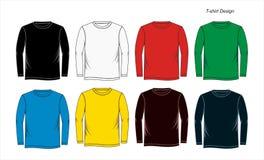Long blanc de calibre de T-shirt de douille, vecteur Photo stock