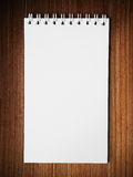 Long blank white note book vertical Stock Images