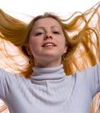 Long blond hair Royalty Free Stock Photo