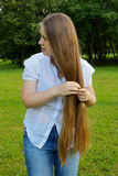 Long blond hair Royalty Free Stock Image