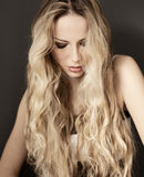 Long blond hair Stock Image
